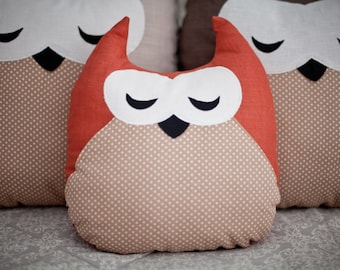 Decorative pillow Pillow owl Pillow Cushion Fanny pillow Soft toy Kids gift idea Owl pillow Owls Decor Nursery