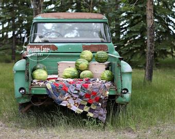 SET OF 3 Antique Truck Digital Background/Watermelon Backdrop/Antique Truck/Watermelon Mini/ Summer Antique Truck backdrop