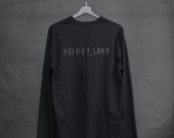 Helmut Lang 2002 backstage jersey l/s tee