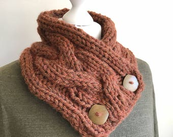 Chunky Buttoned Scarf