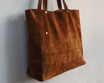Large Color Brown Genuine Leather Business Bag Mod