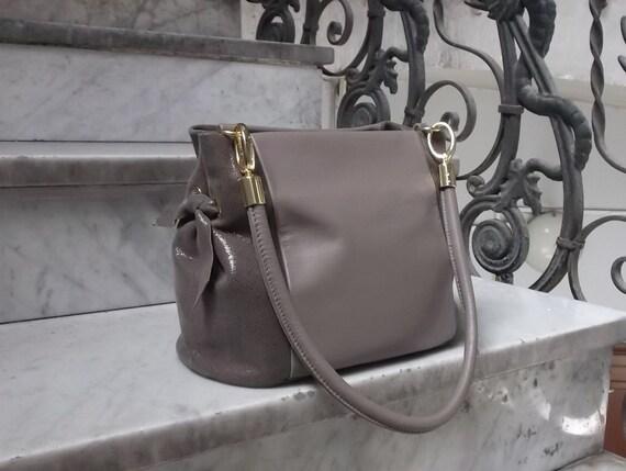 bc733fdfc6ed Women Genuine Leather Handbag mod.38 beige