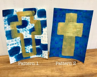 Cross Painting on Canvas Paper