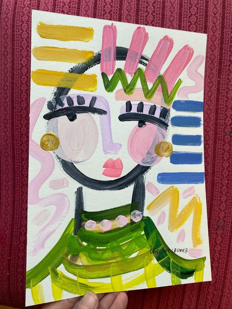 Abstract Face Art Original Art Caroline Cromer Art