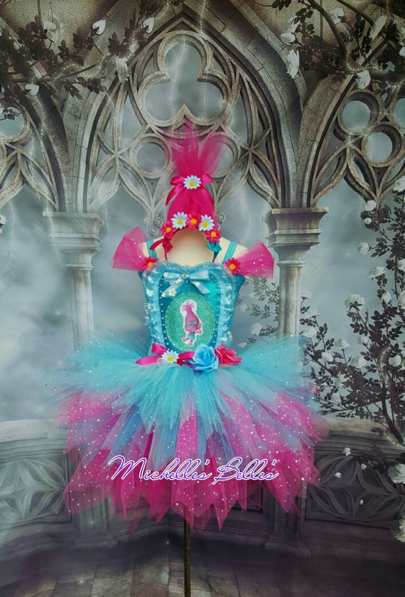 Poppy Trolls Tutu Dress
