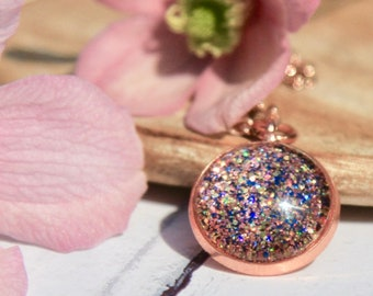 Rose Gold Necklace - Carnival Necklace - Sparkly Necklace - Carnival Jewellery - Rose Gold Jewellery