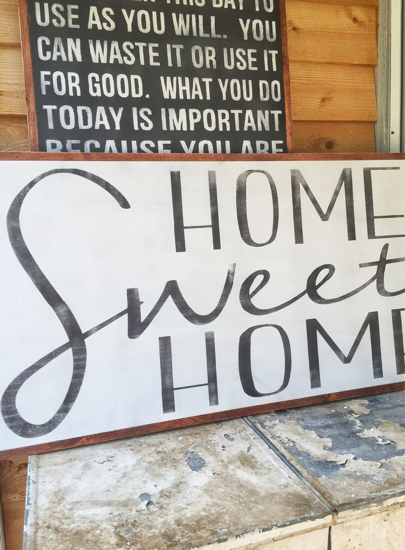 Home Sweet Home Home Wood Sign Large Wood Sign-Extra Large ...