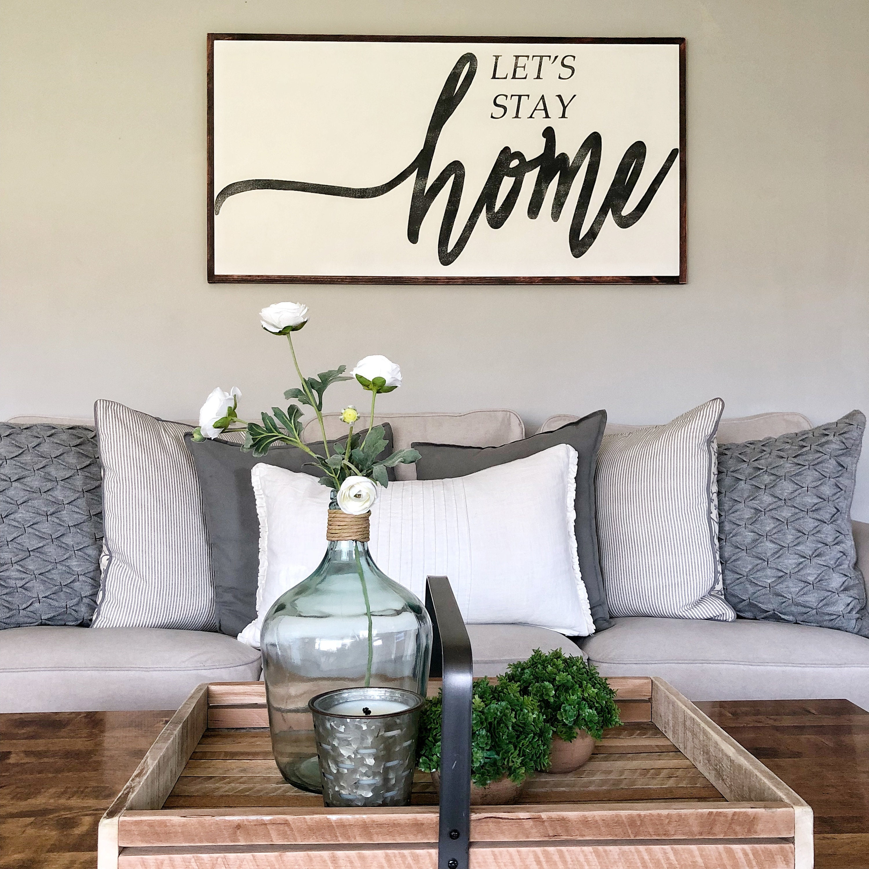Farmhouse Signs Wood Signs Wood Signs For Home Decor Farmhouse Decor Wood Signs With Quotes Let/'s Stay Home sign