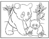 Artículos Similares A Oso Panda Para Colorear Hoja Página De Panda