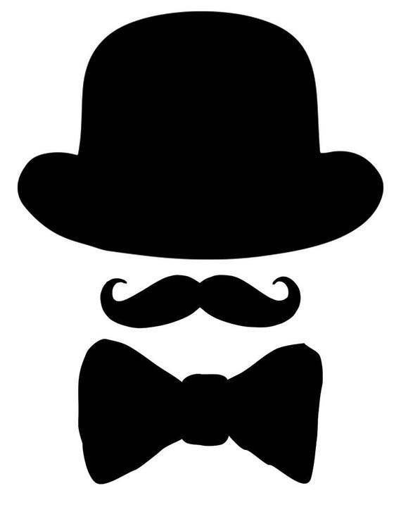 image relating to Hat Printable titled Printable Bow Tie, Printable mustache, Printable black hat, Bow Tie Reduce Outs, Bow Tie Boy or girl Shower Decor, 1st Birthday Decor, Picture Booth
