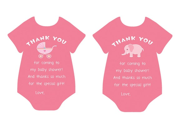 graphic regarding Printable Baby Shower Thank You Cards known as Printable Youngster Shower Thank On your own Card, Youngster Woman, Little one Shower, Onesie Thank by yourself card, Slice Out Thank on your own card Electronic Obtain