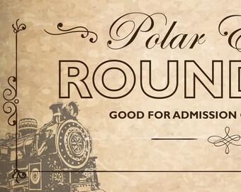Print at Home Polar Express Novelty Tickets