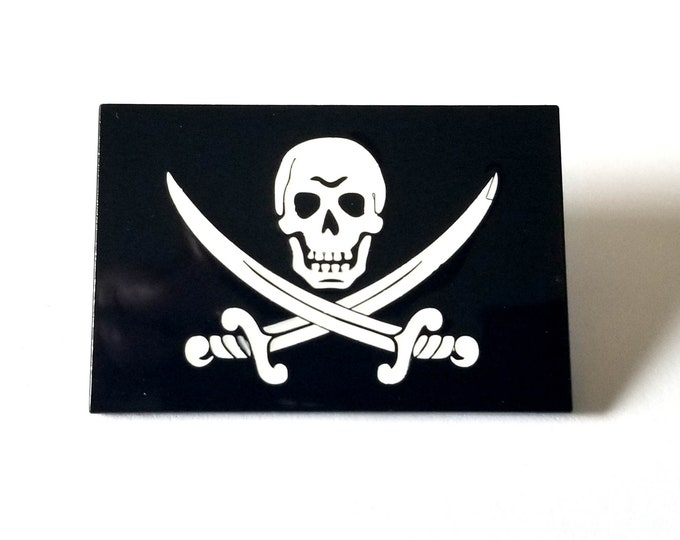 "Calico Jack ""Jolly Roger"" Pirate Flag Enamel Pin"