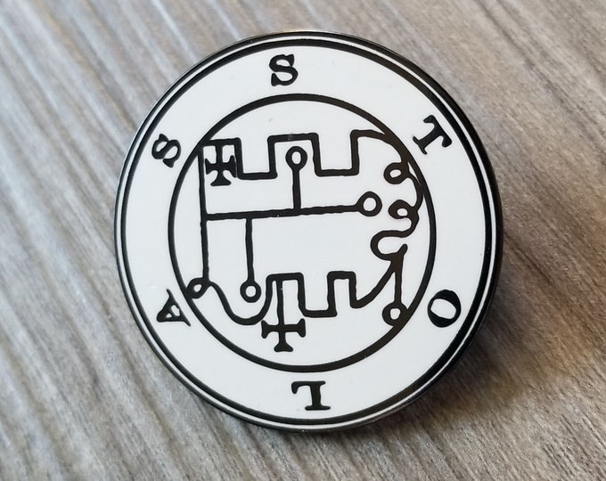 The Seal of Stolas Enamel Pin