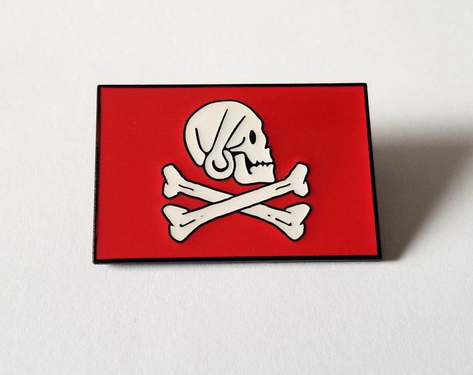 Henry Every Pirate Flag Enamel Pin