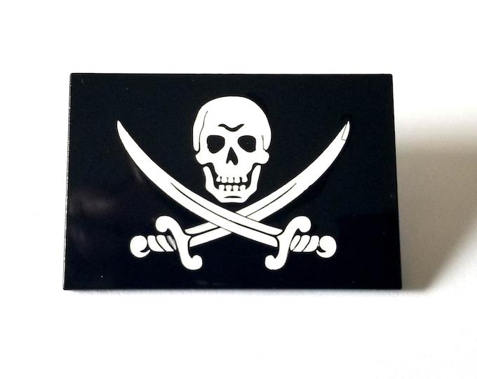 "Calico Jack ""Jolly Roger"" Pirate Flag Enamel Pin"