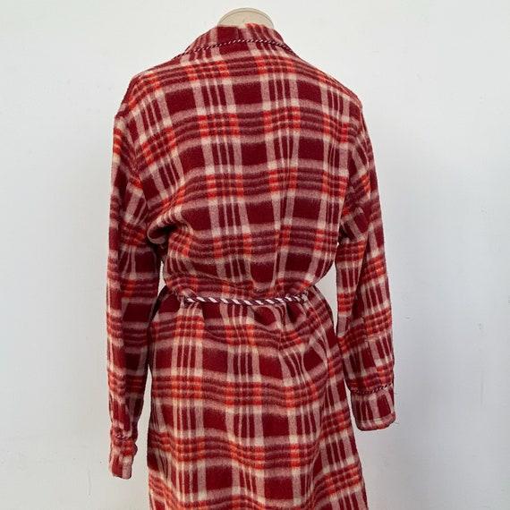 Vintage 40s Red Plaid Beacon Robe - image 6