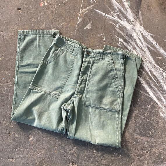 Vintage 60s OG-107 Military Fatigue Pants Well Wor