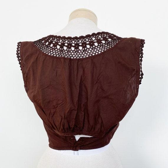 Vintage Edwardian Over Dyed Cotton Lace Corset Co… - image 3