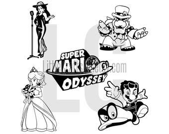 Mario Odyssey Decal Etsy
