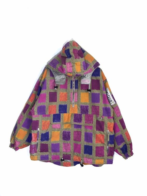 Rare Vintage Estivo Plaid Design Multicolour Pullo