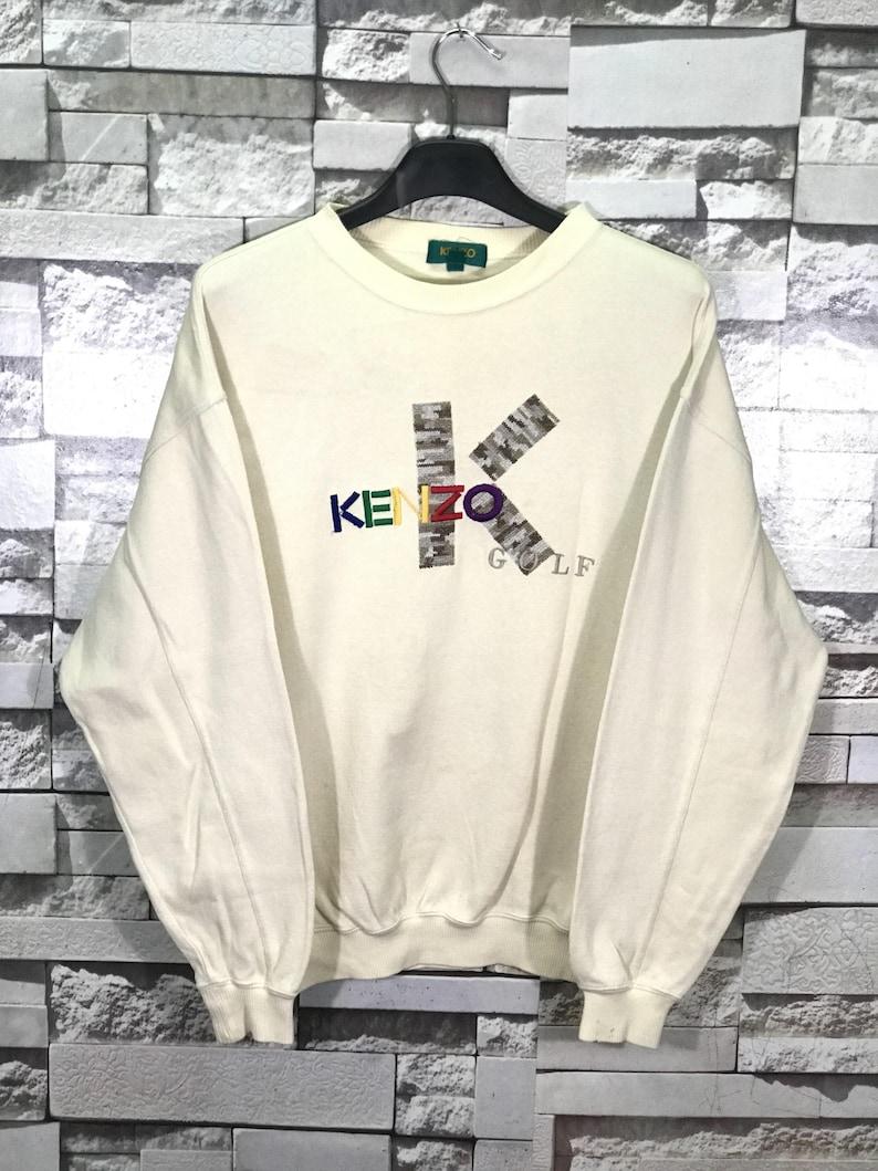 b3f068305 Rare Vintage Kenzo Golf Big Logo Sweatshirts Made In Japan/   Etsy