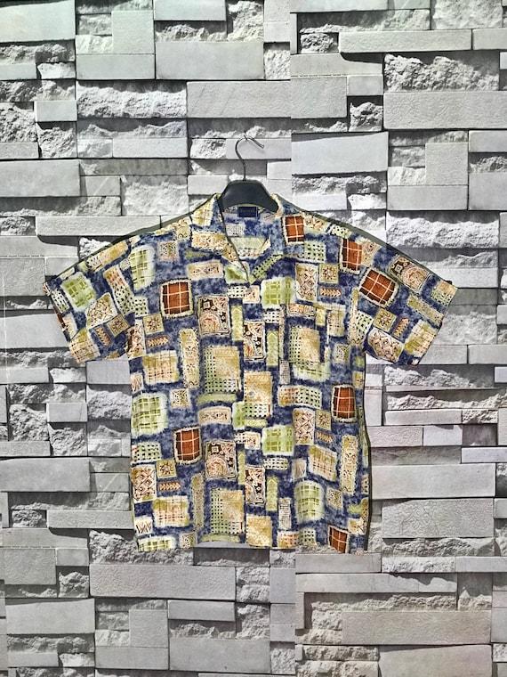 Rare Vintage Bigvery Art Design Shirts  Size Mediu