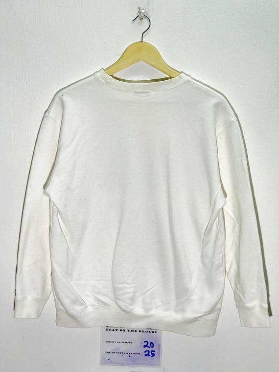 Unisex Vintage ADIDAS ORIGINALS Big Trefoil Logo Hoodie Sweatshirt Grey Small S