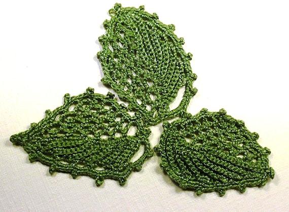 Crochet Pattern Irish Crochet Motif Leaf Pdf Crochet Pattern Etsy