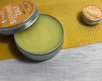 Caring beeswax ointment, for dry and damaged skin, pure nature without perfume