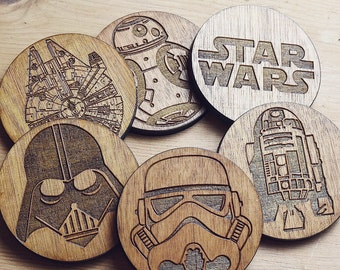 Star Wars Inspired Set of 6 Coasters