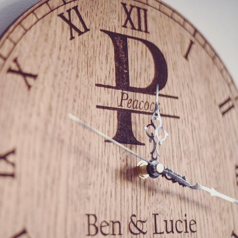 Wedding Gift, Birthday Gift, Anniversary Gift Personalised Wedding Anniversary Date Monogram Clock