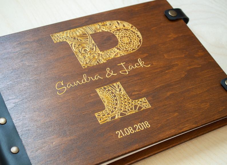 Custom Guest Book Wedding Guest Book Mandala Mothers Day Gift Wedding Scrapbook Guest Book Rustic Guest Book Monogram Guest Book