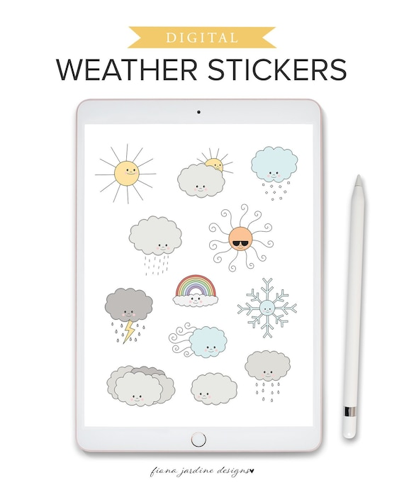Weather icon plannerjournal stickers