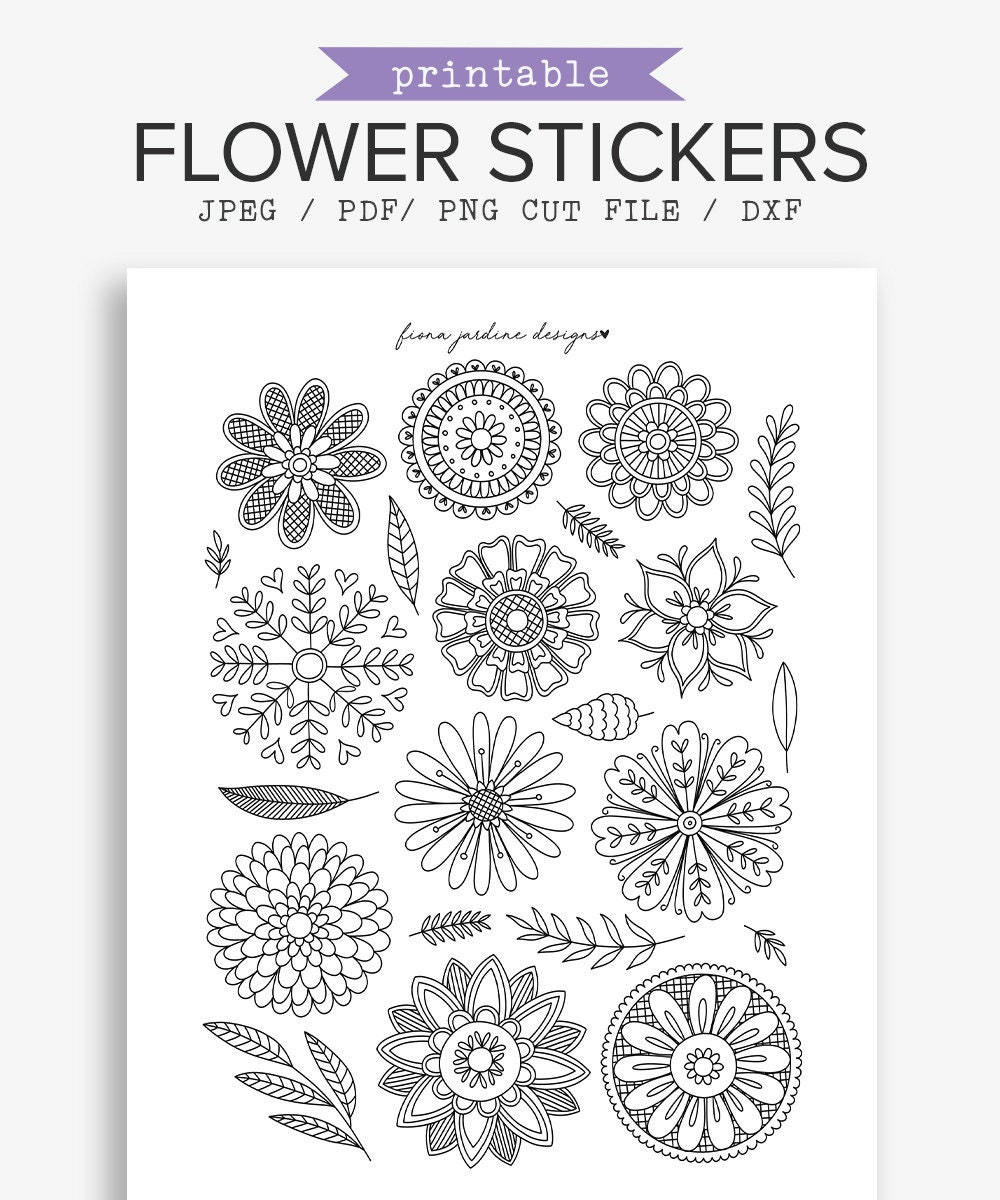 Bullet Journal Printable Coloring Stickers Travelers
