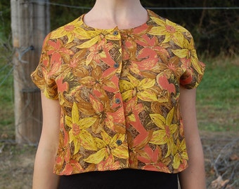 yellow Embroidered Cotton Blouse Daffodil brand  Asian Style