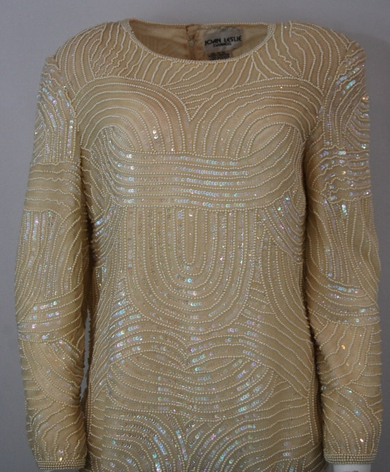 Formal bridal blouse   Ivory white sequin blouse … - image 3