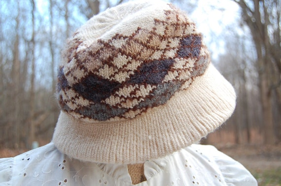 70 s women s vintage Retro golf hat in argyle  bddd31077b0