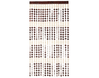 Door Curtain Screen From Wooden Beads. Hanging Handmade Beaded Door Blinds    Size 90 X 200 Cm   Easy To Resize And Install
