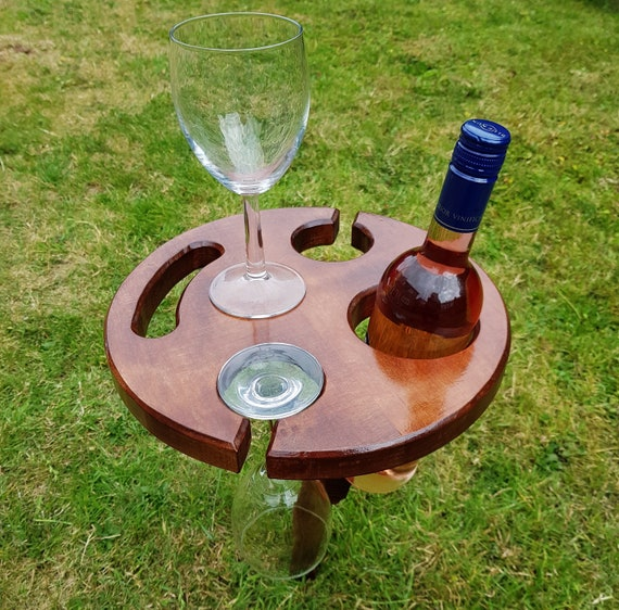 Portable And Foldable Outdoors Wine Table Stand Holder For Etsy