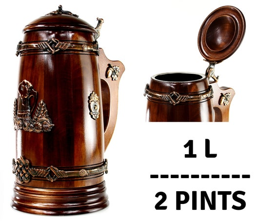 steampunk beer mug