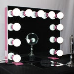 PINK Frameless Hollywood Lighted Vanity Makeup Mirror Dimmable