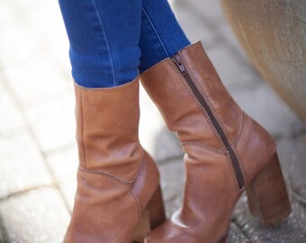 Woman's Leather Brown Boots