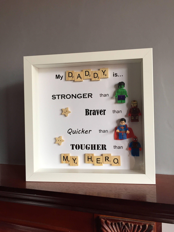 Vatertagsgeschenk Superhelden-Geschenk Superhelden-Rahmen   Etsy