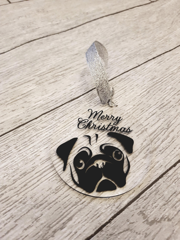 Pug Gift Pug Decoration Pug Lover Gift Pug Tree Decoration Etsy