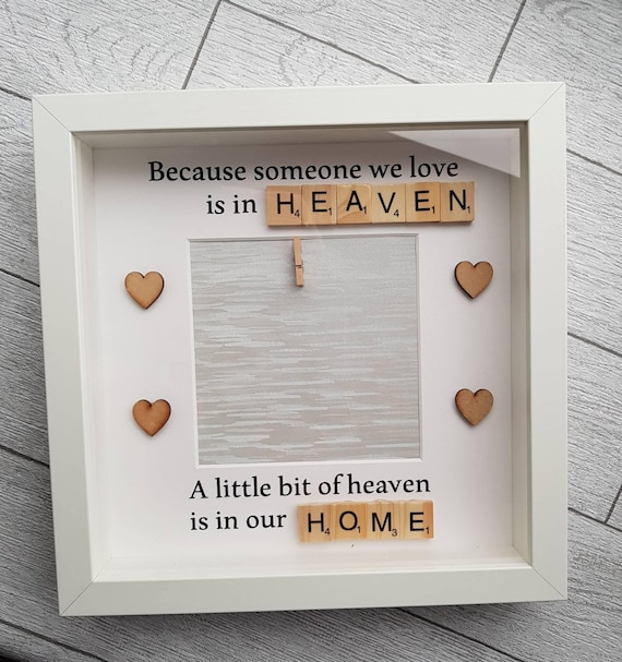 Photo memorial frame, memorial gift, remembrance frame, remembrance ...