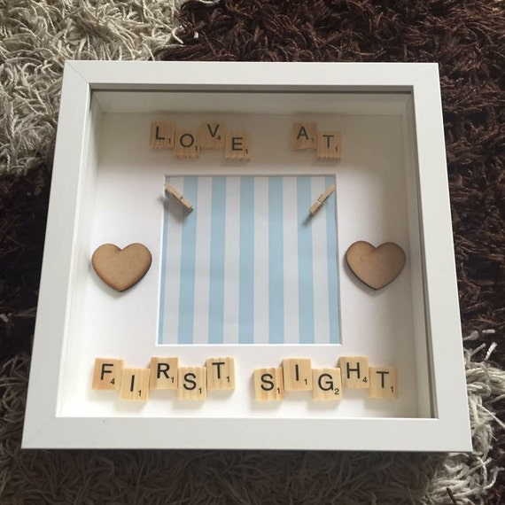 New Baby Boy Frame Baby Scan Frame New Baby Gift Baby Etsy