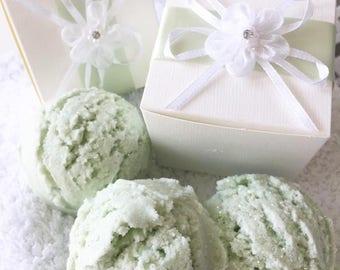 Green Midsummer Scoop Bath Melt, Handmade, Natural Ingredients, Gift, Birthday Gift, Wedding Favours, Gift Box