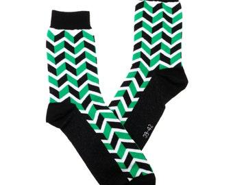 3D green socks, fun socks, green socks, cozy socks, women socks,3D sock, casual socks, cool socks, gift socks, cotton socks made in EU socks