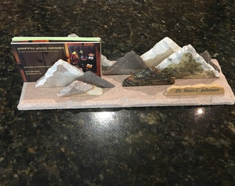 Granite Stone Photo Or Business Card Holder Desk Art Office Etsy